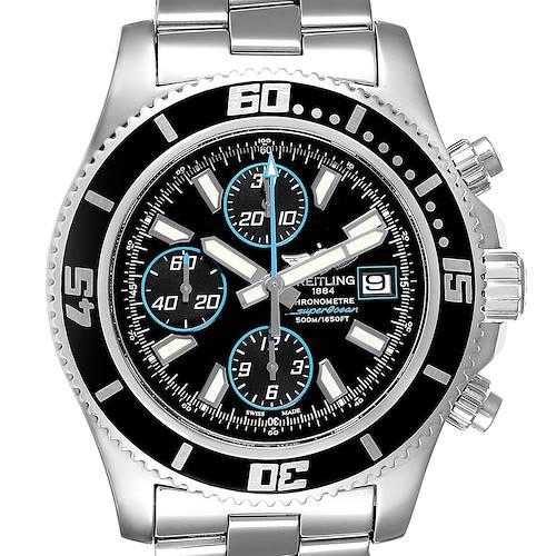Photo of Breitling SuperOcean Chronograph II Blue Abyss Dial Mens Watch A13341