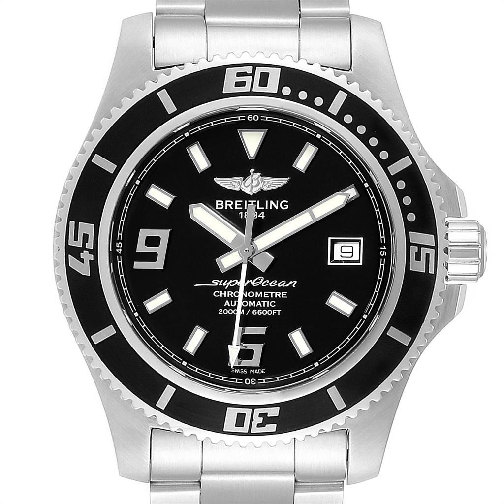 Breitling Aeromarine Superocean 44 Steel Mens Watch A17391 Card