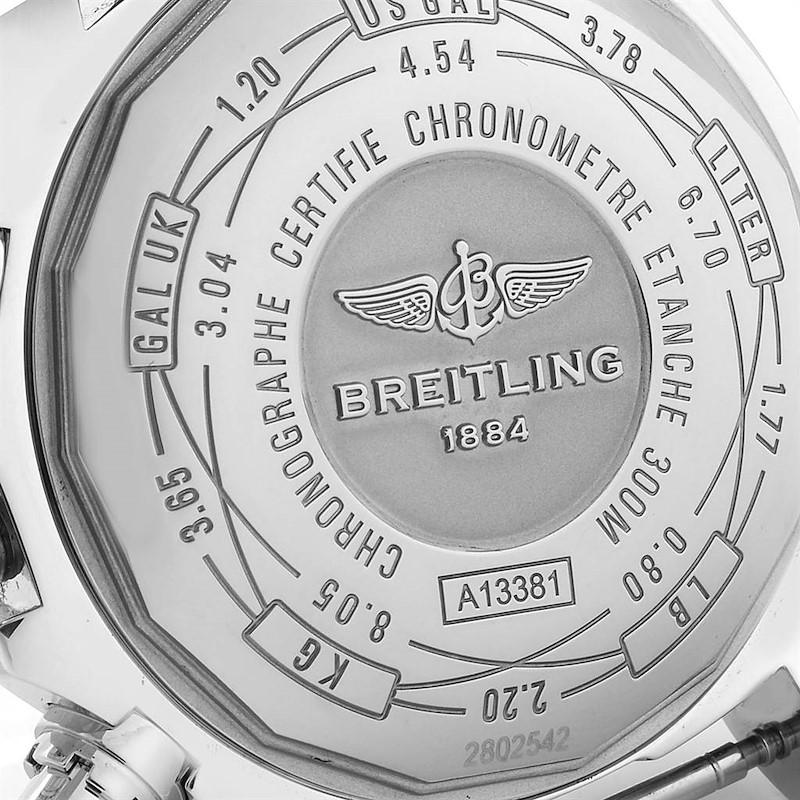 Breitling Aeromarine Avenger II Blue Dial Strap Mens Watch A13381 SwissWatchExpo
