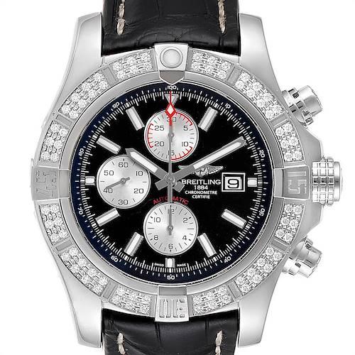 Photo of Breitling Aeromarine Super Avenger Steel Diamond Mens Watch A13371