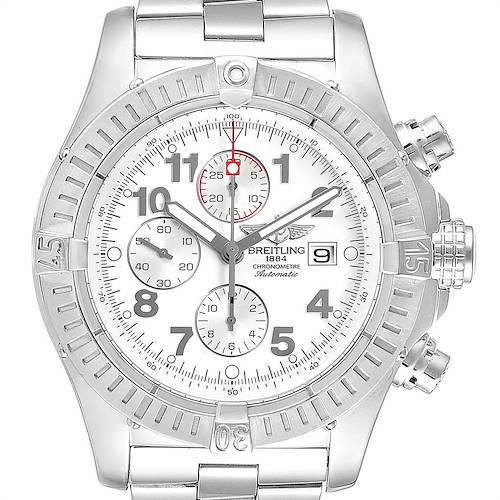 Photo of Breitling Super Avenger White Dial Chronograph Steel Mens Watch A13370