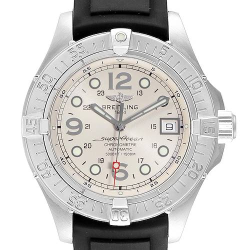 Photo of Breitling Superocean Steelfish Rubber Strap Steel Mens Watch A17360