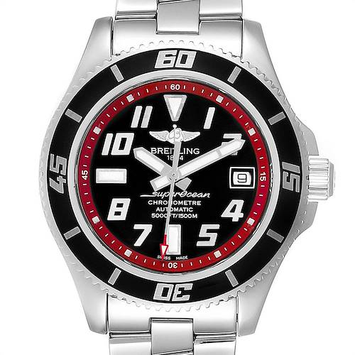 Photo of Breitling Superocean 42 Abyss Black Red Automatic Mens Watch A17364