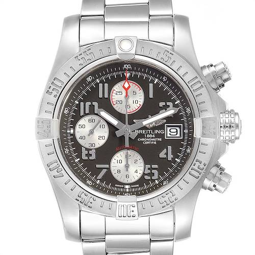 Photo of Breitling Super Avenger Tungsten Gray Dial Watch A13381 Papers