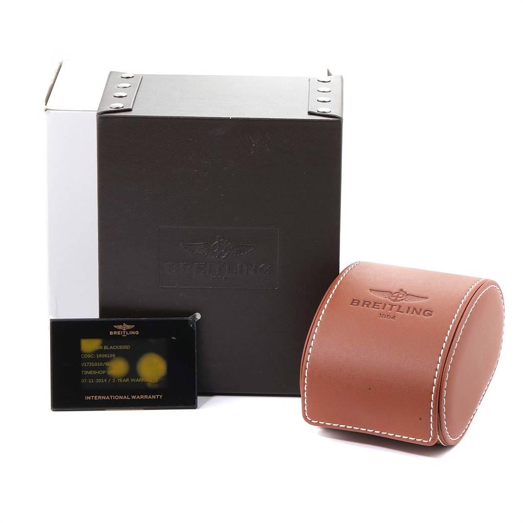 Breitling Avenger Blackbird 48 Titanium Mens Watch V17310 Box Card SwissWatchExpo