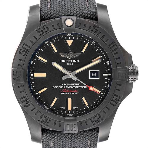Photo of Breitling Avenger Blackbird 48 Titanium Mens Watch V17310 Box Card