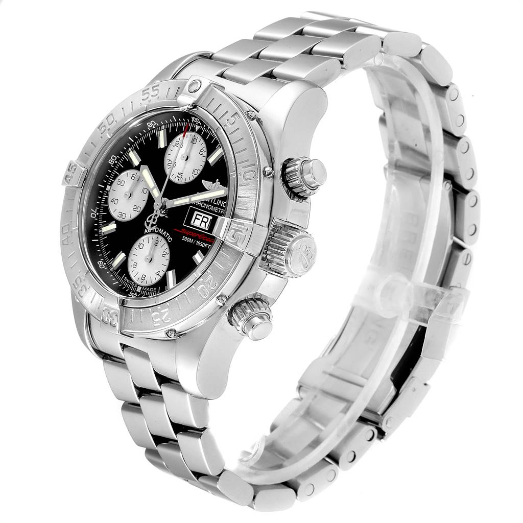 Breitling Superocean Chronograph Steel Mens Watch A13340 Box Papers SwissWatchExpo