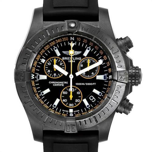 Photo of Breitling Avenger Seawolf Blacksteel Chrono Yellow Hands Watch M73390