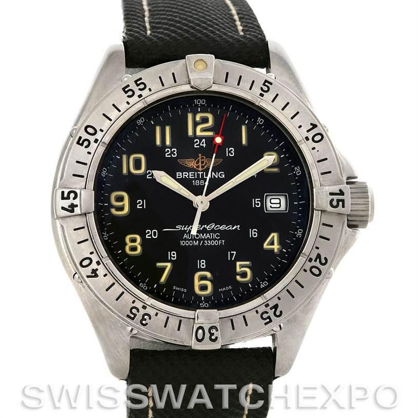 3002 Breitling Superocean Automatic Steel Watch A17040/1121 SwissWatchExpo