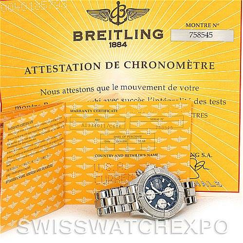 Breitling Aeromarine Superocean Chrono Watch A13340 SwissWatchExpo