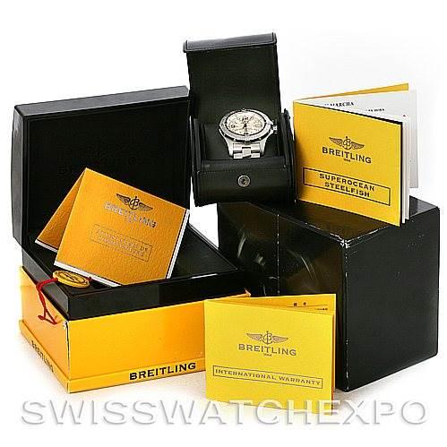 4460 Breitling Aeromarine Superocean Steelfish Watch A17390 SwissWatchExpo
