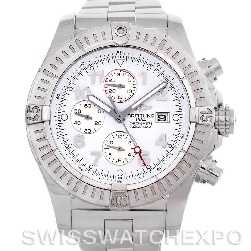4531 Breitling Aeromarine Super Avenger Steel watch A13370 SwissWatchExpo