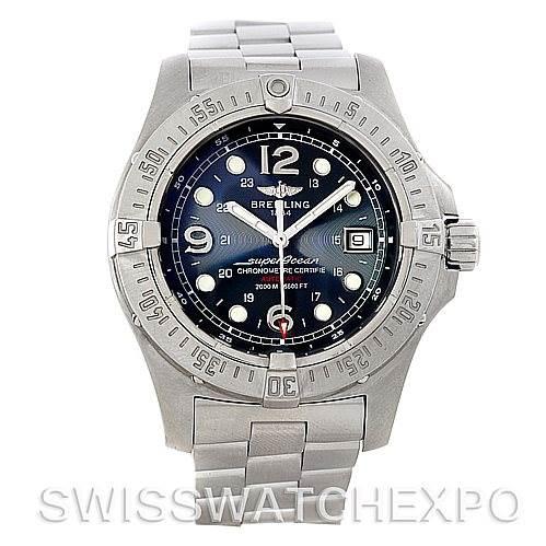 5445 Breitling Aeromarine Superocean Steelfish Watch A17390 SwissWatchExpo