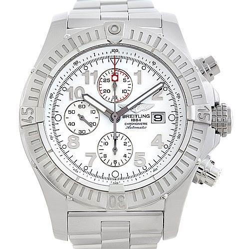 5685 Breitling Aeromarine Super Avenger Steel watch A13370 SwissWatchExpo