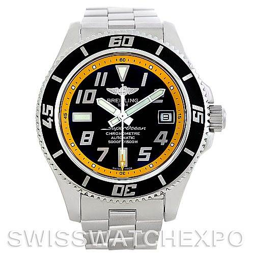 5693 Breitling Aeromarine Superocean Steel Mens Watch A17364 SwissWatchExpo