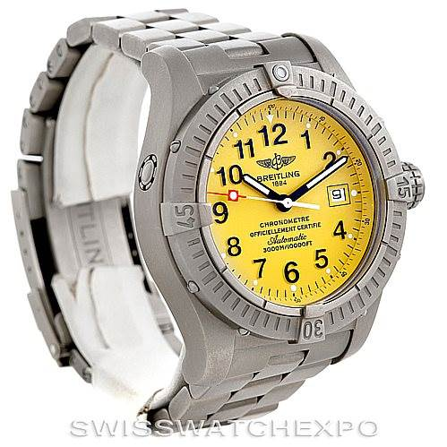 6108 Breitling Avenger Seawolf Titanium Mens Watch E17370 SwissWatchExpo