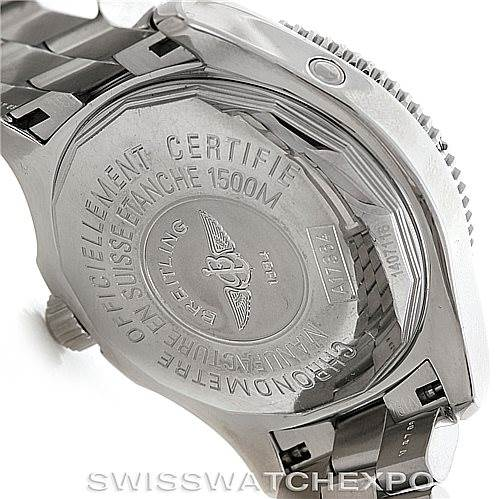 6102 Breitling Aeromarine Superocean Steel Mens Watch A17364 SwissWatchExpo