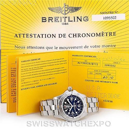 7049 Breitling Aeromarine Superocean Steelfish Watch A17390 SwissWatchExpo