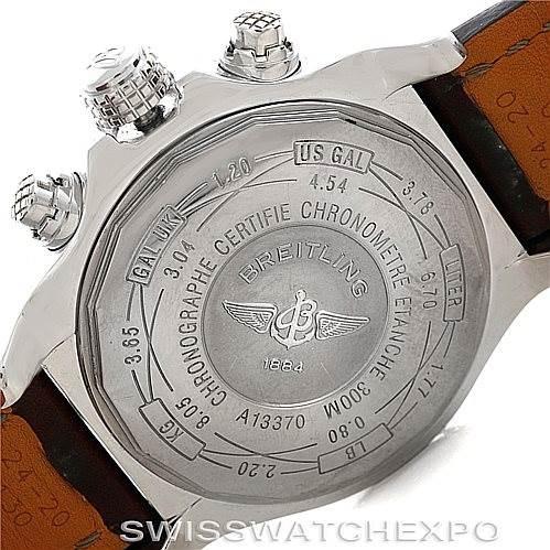 6155 Breitling Aeromarine Super Avenger Steel watch A13370 SwissWatchExpo