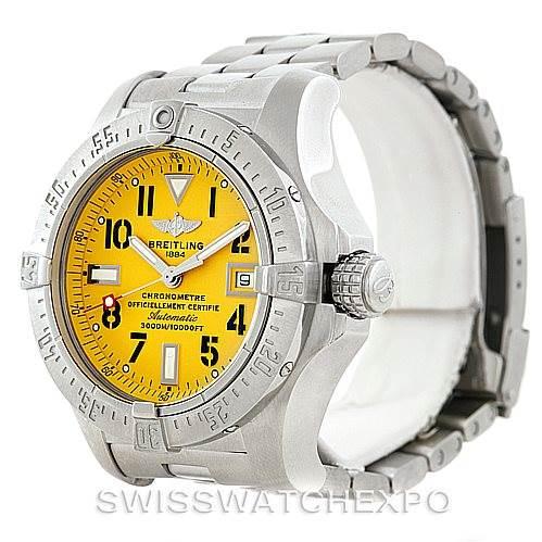 7156 Breitling Aeromarine Avenger Seawolf Men's Watch A17330 SwissWatchExpo