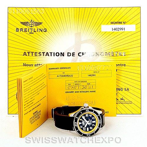7332 Breitling Aeromarine Superocean Steel Mens Watch A17364 SwissWatchExpo