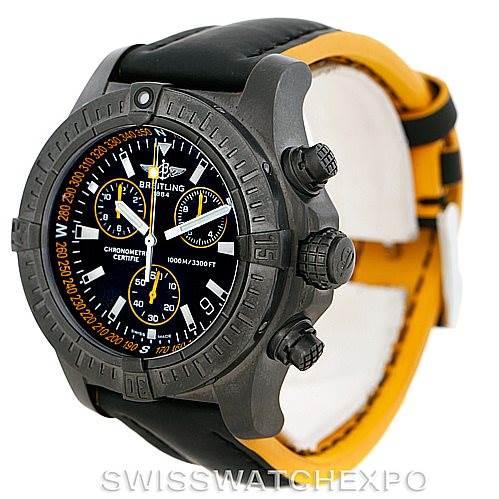 7402 Breitling Aeromarine Avenger Seawolf Blacksteel Watch M73390 SwissWatchExpo