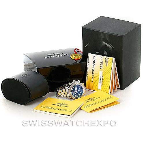 7582 Breitling Aeromarine Super Avenger Steel Watch A13370 SwissWatchExpo