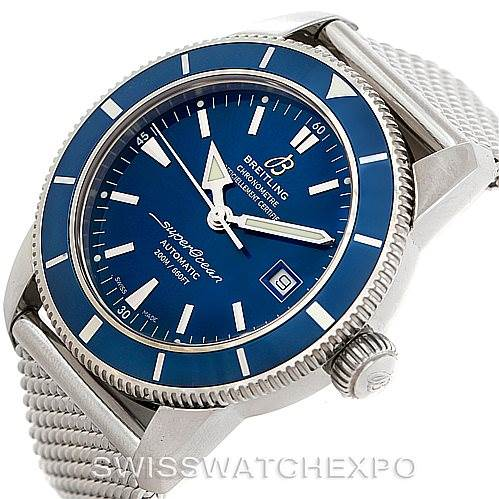 7617X Breitling Superocean Heritage 46 Mens Steel Watch A17321 SwissWatchExpo