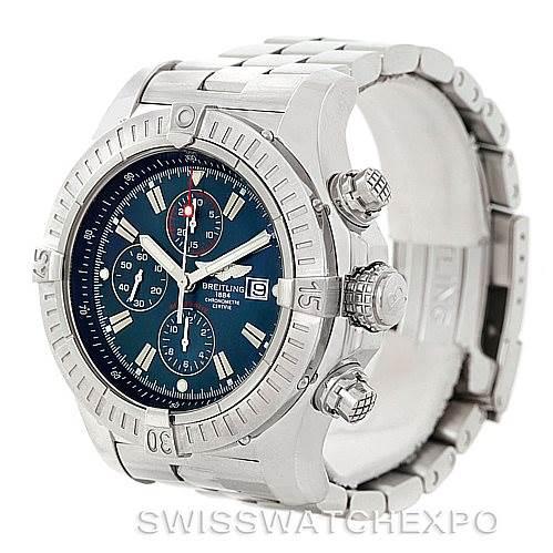 7645 Breitling Aeromarine Super Avenger Steel watch A13370 SwissWatchExpo