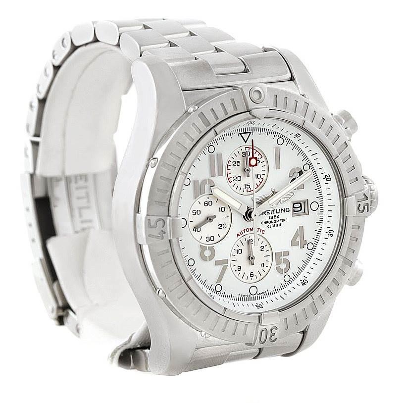7662 Breitling Aeromarine Super Avenger Steel watch A13370 SwissWatchExpo