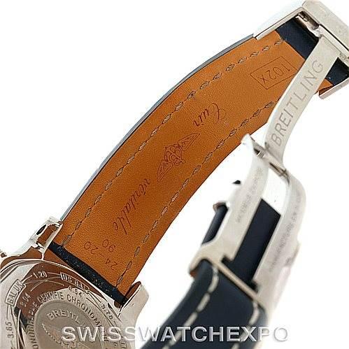Breitling Aeromarine Super Avenger Steel Blue Strap Watch A13370 SwissWatchExpo
