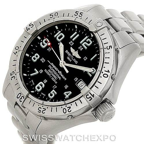 7872 Breitling Aeromarine Superocean Steel Mens Watch A17345 SwissWatchExpo