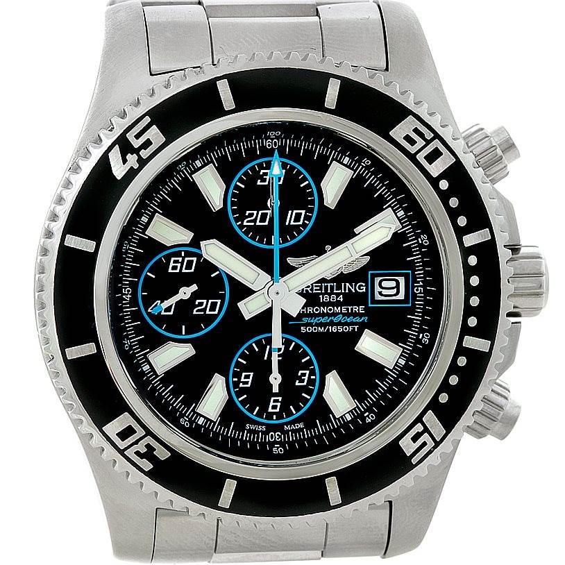 8462 Breitling Aeromarine SuperOcean Chronograph II Mens Watch A13341 SwissWatchExpo