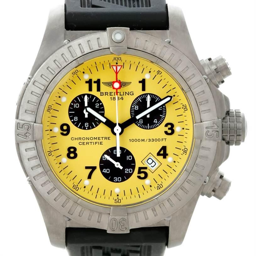 8361 Breitling Aeromarine Chrono Avenger M1 Titanium Watch E73360 SwissWatchExpo