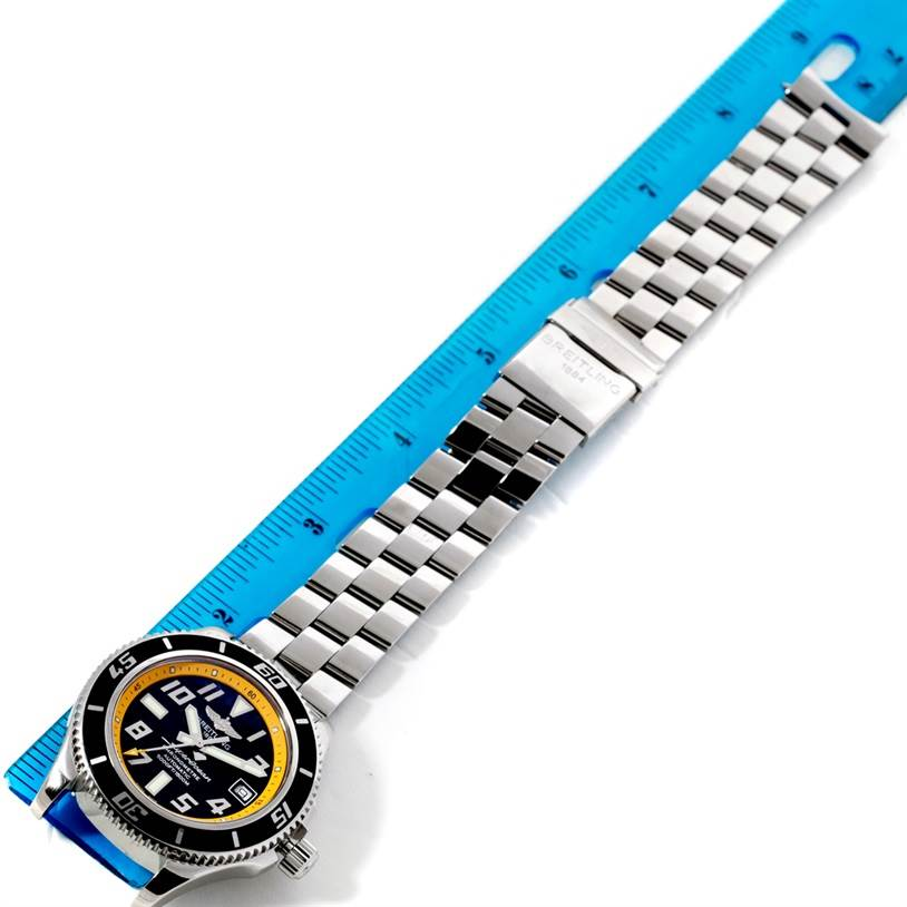 8638 Breitling Superocean 42 Abyss Yellow Steel Mens Watch A17364  SwissWatchExpo