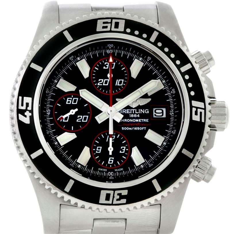 8669 Breitling Aeromarine SuperOcean Chronograph II Mens Watch A13341 SwissWatchExpo