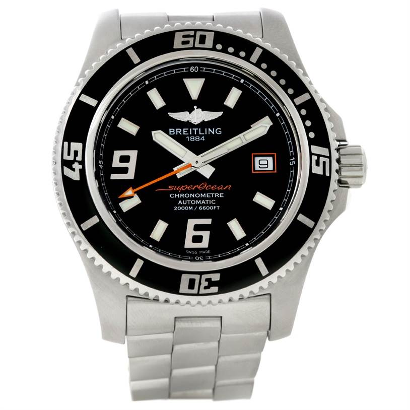 8674 Breitling Aeromarine Superocean 44 Steel Mens Watch A17391 SwissWatchExpo