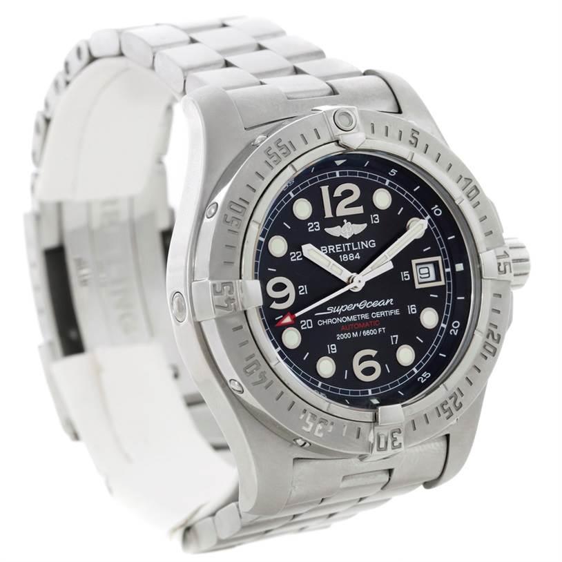 8834 Breitling Aeromarine Superocean Steelfish Watch A17390 SwissWatchExpo