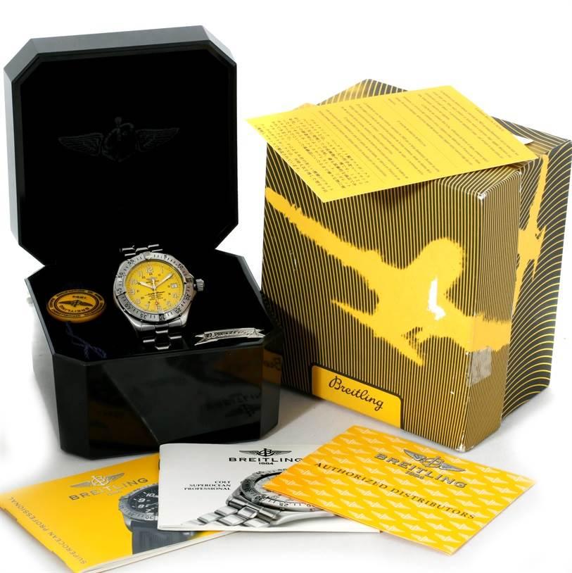 8946 Breitling Aeromarine Superocean Professional Watch A17345 SwissWatchExpo