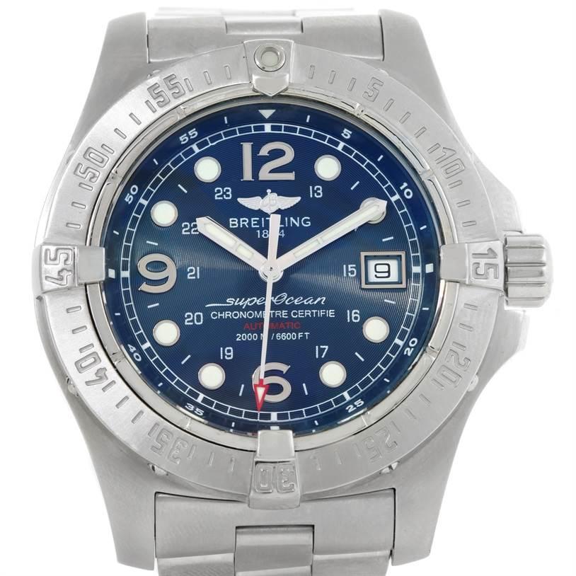 9251 Breitling Aeromarine Superocean Steelfish Watch A17390 SwissWatchExpo