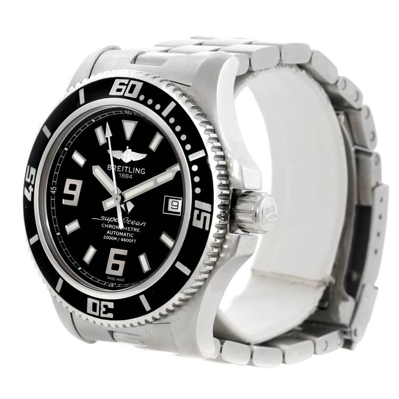 8184 Breitling Aeromarine Superocean 44 Steel Mens Watch A17391 SwissWatchExpo