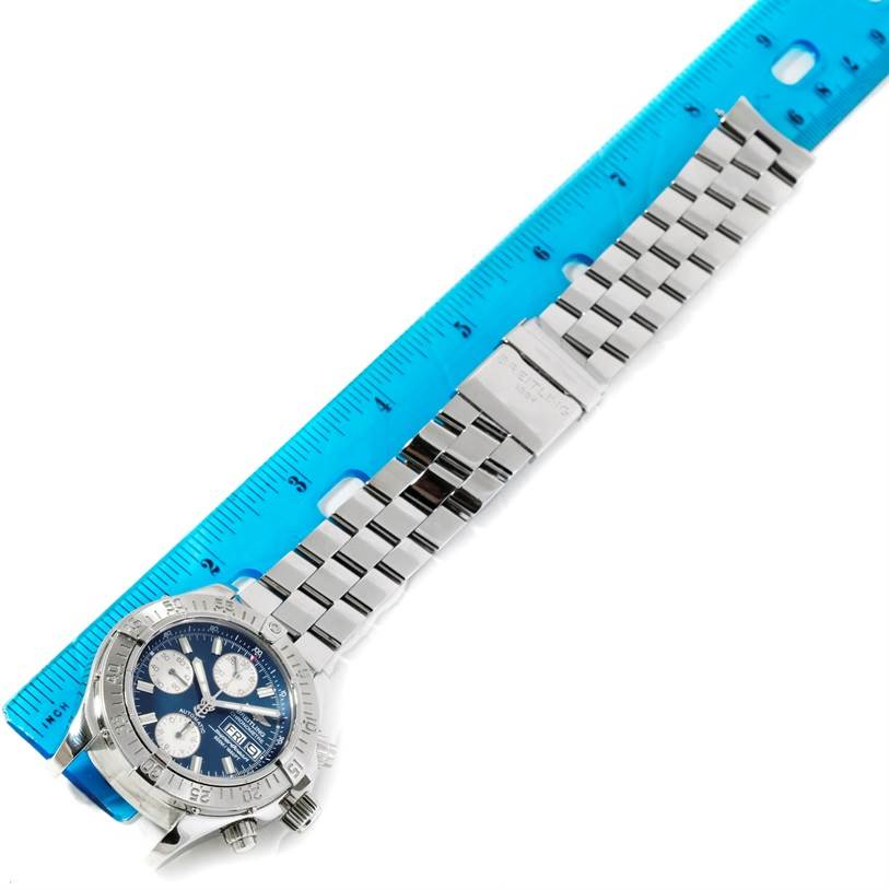 9433 Breitling Aeromarine Superocean Chrono Blue Dial Mens Watch A13340 SwissWatchExpo