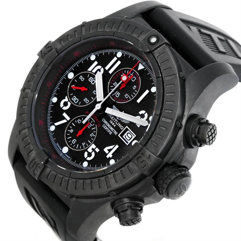 9476 Breitling Aeromarine Super Avenger BlackSteel Limited Watch M13370 SwissWatchExpo