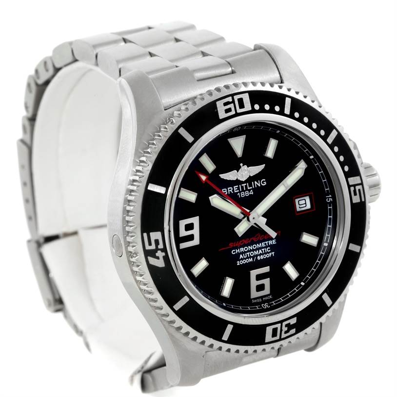 9434 Breitling Aeromarine Superocean 44 Steel Mens Watch A17391 SwissWatchExpo