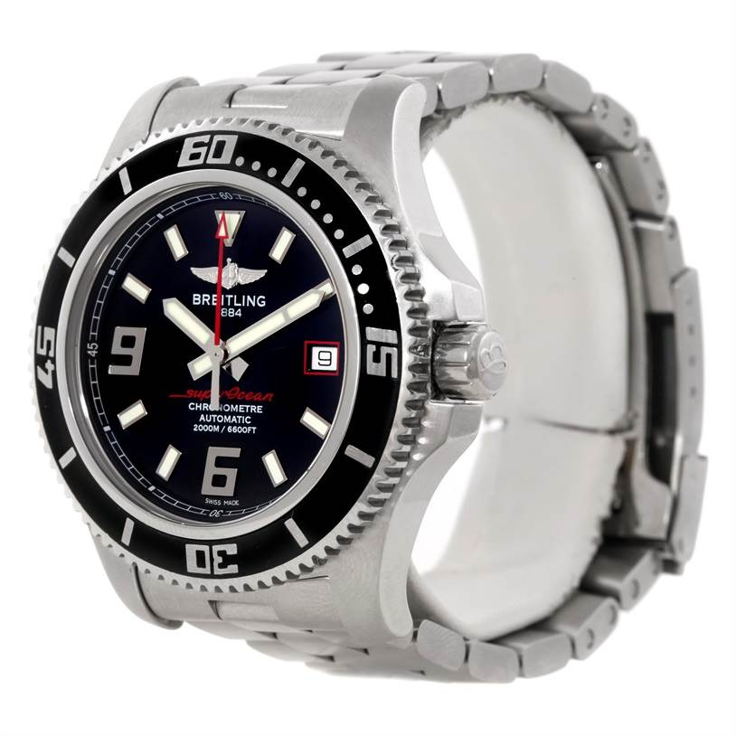 9434 Breitling Aeromarine Superocean 44 Steel Mens Watch A17391 SwissWatchExpo