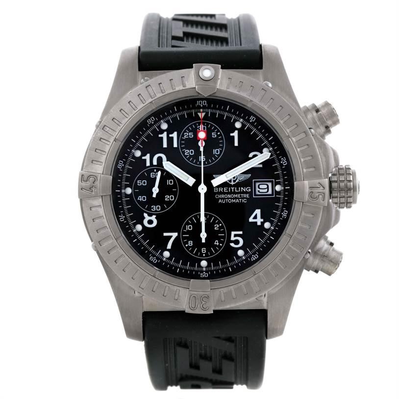 Breitling Aeromarine Avenger Titanium Black Dial Watch E13360 SwissWatchExpo
