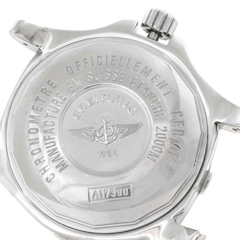 9751 Breitling Aeromarine Superocean Steelfish Blue Dial Watch A17390 SwissWatchExpo