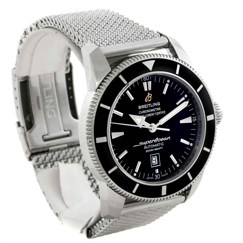 Breitling Superocean Heritage 46 Black Dial Mens Watch A17320 Unworn SwissWatchExpo