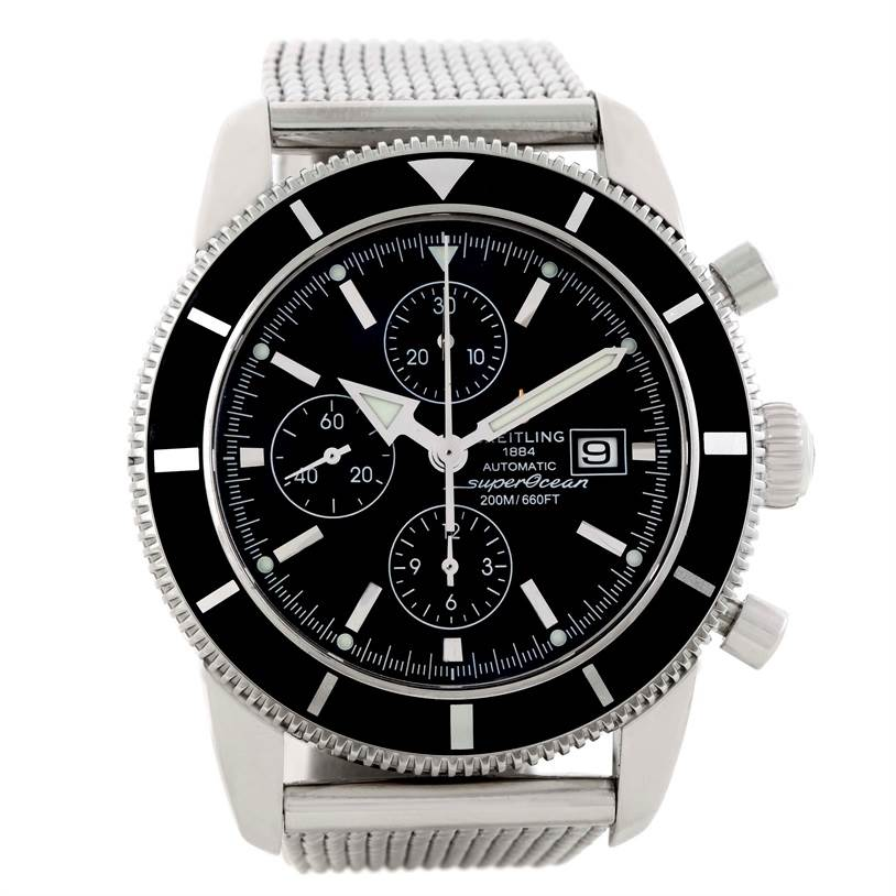 9845 Breitling SuperOcean Heritage Chrono 46 Chronograph Watch A13320 SwissWatchExpo
