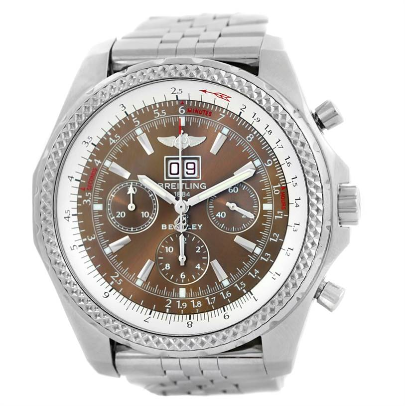 10083 Breitling Bentley Motors Chronograph Bronze Dial Mens Watch A44362 SwissWatchExpo